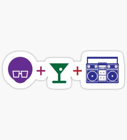 Pre-party Formula in Color! Sticker