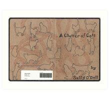 A Clutter of Cats Art Print