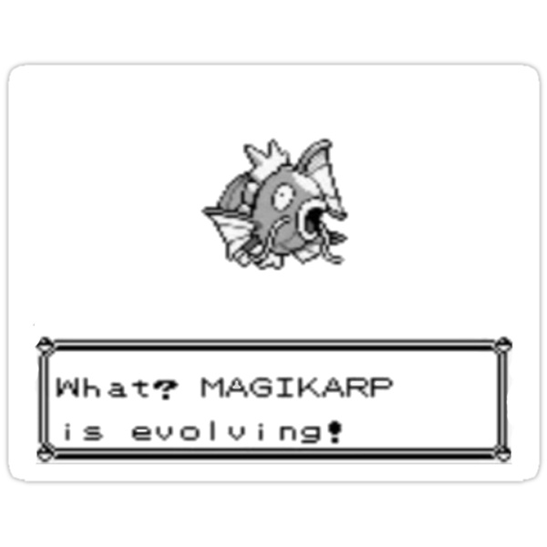What? Magikarp is evolving! by mikeAguy1