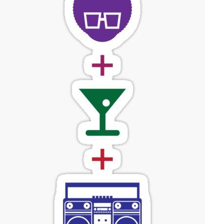 Formula for a Pre-party in Color! Sticker