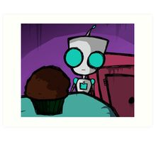 INVADER ZIM, GIR Vs. MUFFIN Art Print