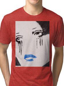 Crying Girl Tri-blend T-Shirt