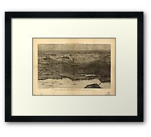 Panoramic Maps Saratoga Springs and vicinity scene of the inter-collegiate regatta see page 626 Framed Print