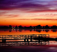 Sunrise - Lake Albert, Wagga Wagga by naemick
