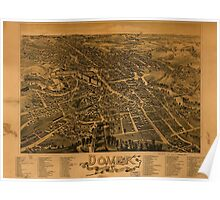 Panoramic Maps Dover Stafford County New Hampshire 1888 Poster