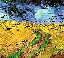 Wheat Field with Crows by Vincent van Gogh by Robert Partridge