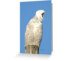 I'm so tired Greeting Card
