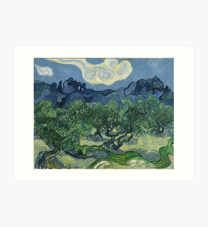 Olive Trees with the Alpilles in the Background by Vincent van Gogh Art Print
