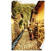 Peruvian Street Life Poster