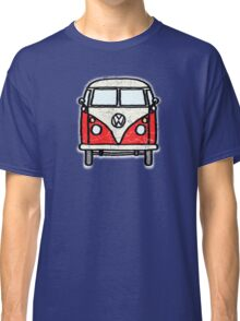 Red White Campervan Worn Well Classic T-Shirt