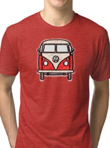 Red White Campervan Worn Well Tri-blend T-Shirt