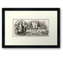 Old Christmas Church Snow scene 1862 Framed Print