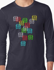 Multi Colour Campervan Long Sleeve T-Shirt
