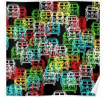Multi Colour Campervan Poster