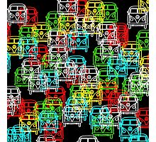 Multi Colour Campervan Photographic Print
