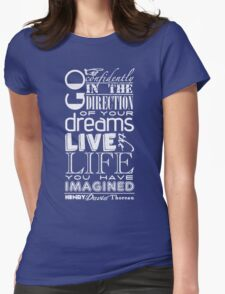 Henry David Thoreau Dreams Quote Womens Fitted T-Shirt