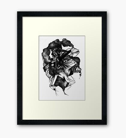 8 by 10 inch ink drawing on watercolor paper Framed Print