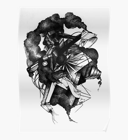 8 by 10 inch ink drawing on watercolor paper Poster
