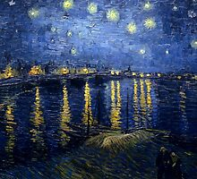 Starry Night Over the Rhone by Vincent van Gogh by Robert Partridge