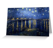 Starry Night Over the Rhone by Vincent van Gogh Greeting Card
