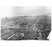 Hazy Liverpool Aerial Poster