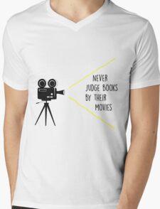Never Judge Books By Their Movies Mens V-Neck T-Shirt