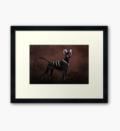 Houndoom- Pokemon Concept Digital Painting Framed Print