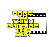 Dare to Think Outside the Box Photographic Print