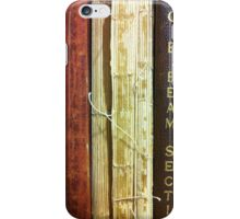 Old Steel Manuals  iPhone Case/Skin