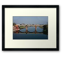 Mirrored Bridge Framed Print