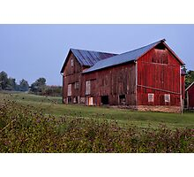 Olde Red Barn Photographic Print