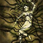 Tangled Roots Female Figure Digital Painting by JamieTifft