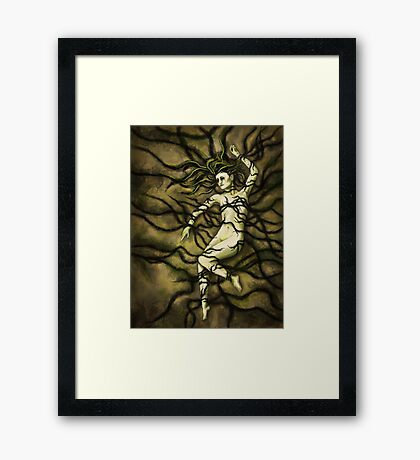 Tangled Roots Female Figure Digital Painting Framed Print