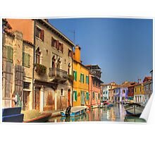Colourful Burano, Italy. Poster