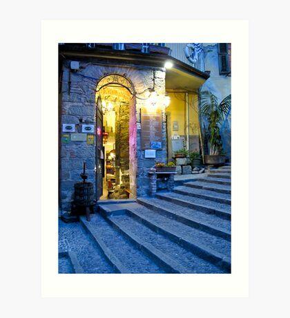 night scene in Riomaggiore Art Print