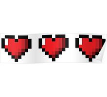 Full Life Video Game Hearts Poster