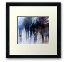 Crowded and Blue - A Colchester Street Framed Print