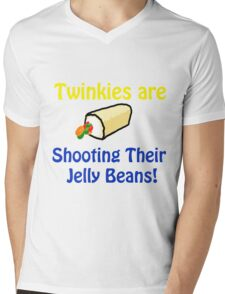 Twinkies are shooting their Jelly Beans T-Shirt Mens V-Neck T-Shirt