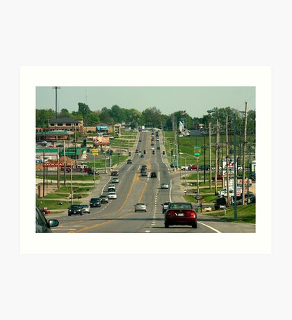 Streets of Cape Girardeau Art Print