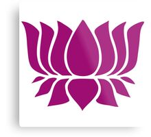 lotus flower zen yoga Metal Print