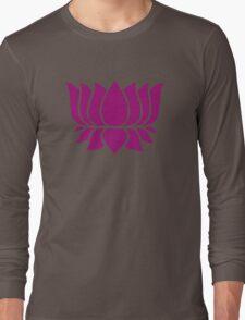 lotus flower zen yoga Long Sleeve T-Shirt