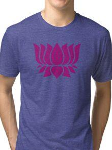 lotus flower zen yoga Tri-blend T-Shirt