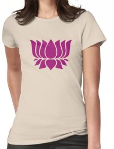 lotus flower zen yoga Womens Fitted T-Shirt