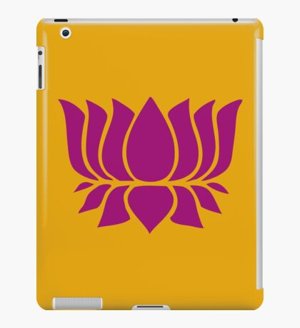 lotus flower zen yoga iPad Case/Skin
