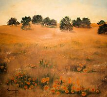 California Hills-Oil Painting by Esperanza Gallego