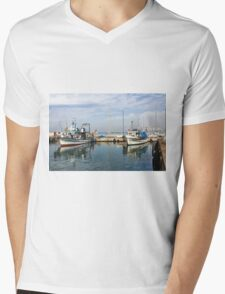 Israel, Jaffa, Fishing boats in the ancient port Mens V-Neck T-Shirt