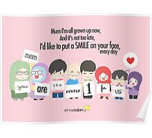 Mum You're The Number One for Me Poster