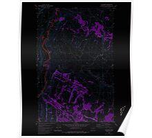 USGS Topo Map Washington State WA Keystone 241769 1980 24000 Inverted Poster