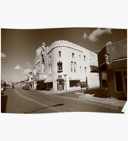 Santa Fe Street Scene Poster