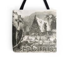 Old Christmas Church Snow scene 1862 Tote Bag